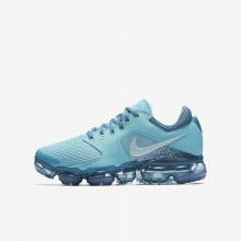 Boys Bleached Aqua/Noise Aqua/Glacier Blue Nike Air VaporMax Running Shoes 917962-402