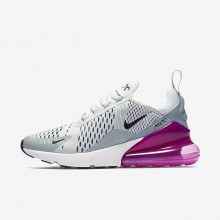 Womens Barely Grey/Light Pumice/Fuchsia Blast/Black Nike Air Max 270 Lifestyle Shoes AH6789-004