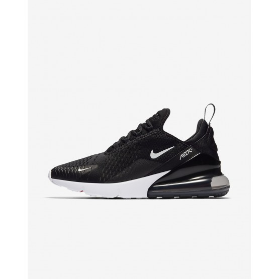 Mens Black/White/Solar Red/Anthracite Nike Air Max 270 Lifestyle Shoes AH8050-002