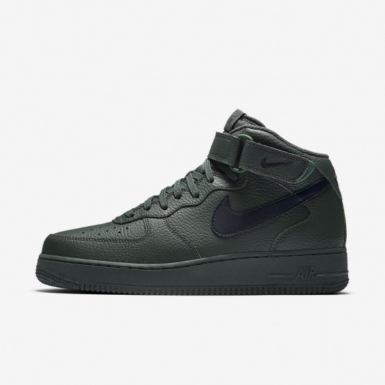 Mens Grove Green/Black Nike Air Force 1 Lifestyle Shoes 315123-303