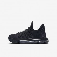Boys Black/Dark Grey Nike Zoom KDX Basketball Shoes 918365-004