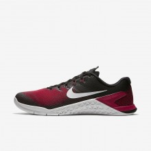 Mens Black/Hyper Crimson/Habanero Red/Vast Grey Nike Metcon 4 Training Shoes AH7453-002