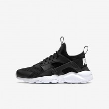 Boys Black/White Nike Air Huarache Lifestyle Shoes 847569-020