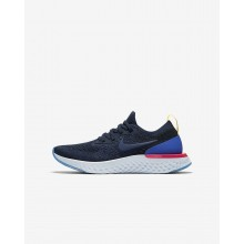 Boys College Navy/Racer Blue/Pink Blast Nike Epic React Flyknit Running Shoes 943311-400