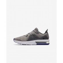 Boys Dark Grey/Moon Particle/Persian Violet/Black Nike Air Max Sequent Running Shoes 922884-004