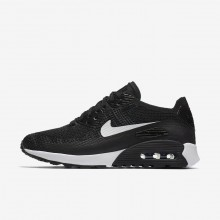 Womens Black/Dark Grey/White Nike Air Max 90 Lifestyle Shoes 881109-004
