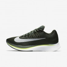 Mens Sequoia/Medium Olive/Dark Stucco/White Nike Zoom Fly Running Shoes 880848-301