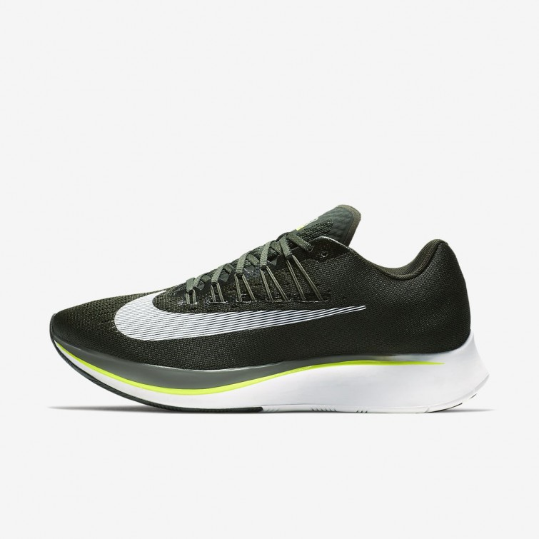 49fd38656fee Nike Zoom Fly Running Shoes For Men Sequoia Medium Olive Dark Stucco White