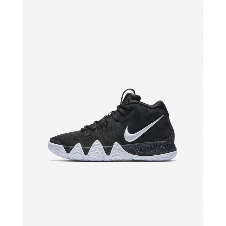 407ac2f4a83c Boys Black Anthracite Light Racer Blue White Nike Kyrie 4 Basketball Shoes  AA2897