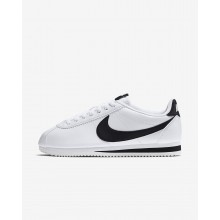 Womens White/Black Nike Classic Cortez Lifestyle Shoes 807471-101