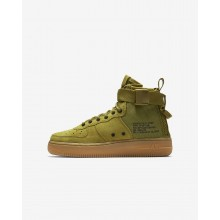 Boys Desert Moss/Gum Medium Brown/Black Nike SF Air Force 1 Lifestyle Shoes AJ0424-300