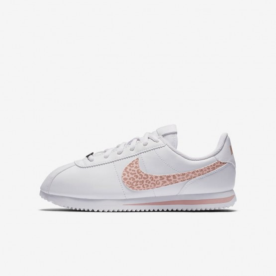 Nike Cortez Lifestyle Shoes For Girls White/Rust Pink/Coral Stardust AH7528-102