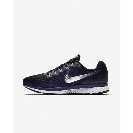 Womens Black/Ink/Provence Purple/Metallic Silver Nike Air Zoom Running Shoes 880560-015