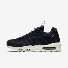 Mens Black/Gym Red/Sail Nike Air Max 95 Lifestyle Shoes AJ1844-002