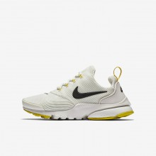 Boys Light Bone/Vivid Sulfur/Velvet Brown Nike Presto Fly Lifestyle Shoes 913966-007