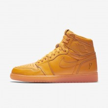 Mens Orange Peel Nike Air Jordan 1 Lifestyle Shoes AJ5997-880