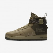 Mens Neutral Olive/Cargo Khaki Nike SF Air Force 1 Lifestyle Shoes 917753-201