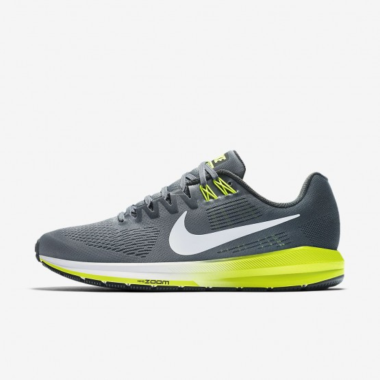 Mens Cool Grey/Anthracite/Volt/White Nike Air Zoom Running Shoes 904695-007