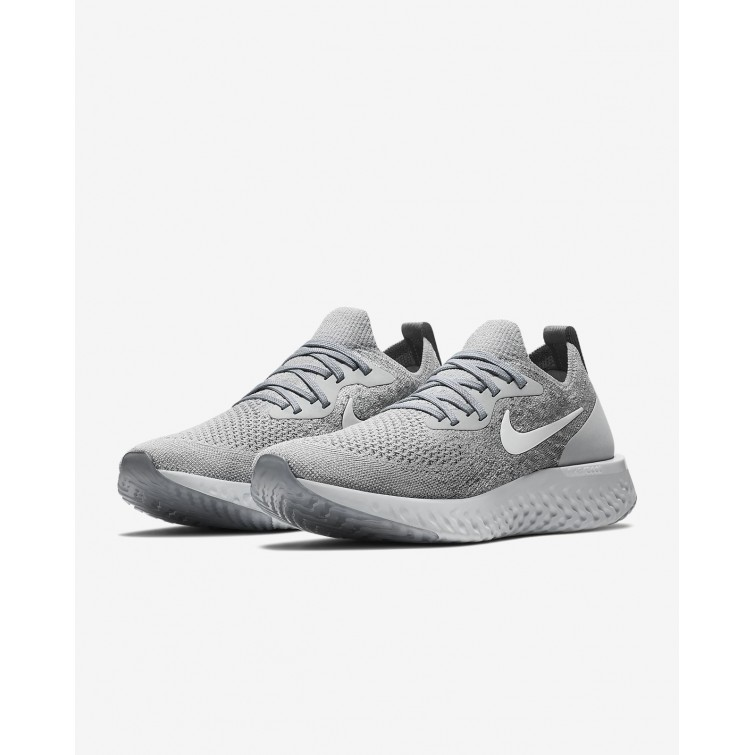 4d5c17d5a0ee ... Nike Epic React Flyknit Running Shoes For Women Wolf Grey Cool  Grey Pure Platinum