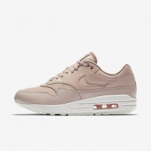 Womens Particle Beige/Particle Pink/Summit White Nike Air Max 1 Lifestyle Shoes 454746-206