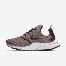 Womens Port Wine/Particle Pink/Black/Metallic Mahogany Nike Presto Fly Lifestyle Shoes 910570-602
