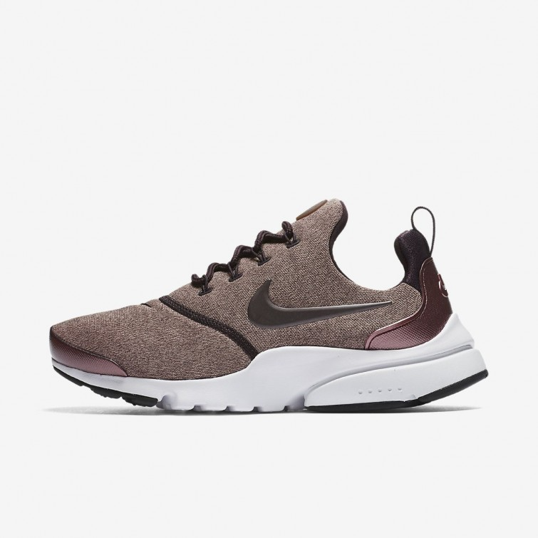 Womens Port Wine Particle Pink Black Metallic Mahogany Nike Presto Fly  Lifestyle Shoes f7eb527ffb