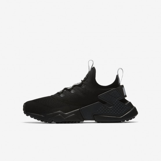 Boys Anthracite/Dark Grey/Wolf Grey Nike Huarache Lifestyle Shoes 943344-001