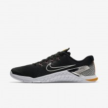 Nike Metcon 4 Training Shoes For Men Black/Laser Orange/Fuchsia Blast/Metallic Silver AH7453-008
