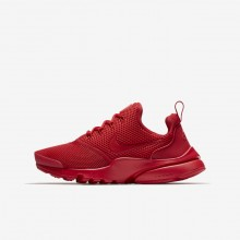 Boys University Red Nike Presto Fly Lifestyle Shoes 913966-600