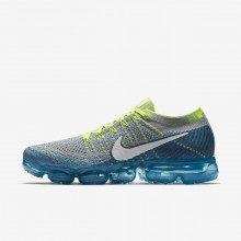 Mens Wolf Grey/Chlorine Blue/Photo Blue/White Nike Air VaporMax Running Shoes 849558-022