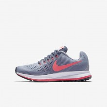 Nike Zoom Pegasus Running Shoes For Girls Provence Purple/Light Carbon/Black/Solar Red 881954-501