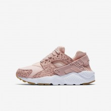 Girls Coral Stardust/Gum Light Brown/White/Rust Pink Nike Huarache Lifestyle Shoes 904538-603