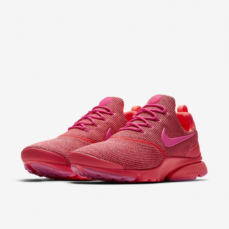 new product fb403 ec84c Womens Hot Punch/Pink Blast Nike Presto Fly Shoes New ...