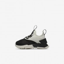 Girls Black/White/Sail Nike Huarache Lifestyle Shoes AA3504-002