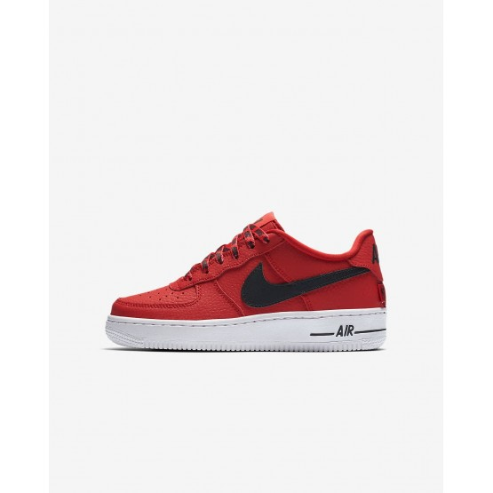 Boys University Red/White/Black Nike Air Force 1 Lifestyle Shoes 820438-606