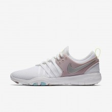 Womens White/Elemental Rose/Volt Glow/Metallic Silver Nike Free TR Training Shoes 904651-102