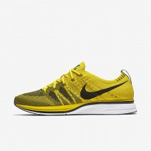 Nike Flyknit Trainer Lifestyle Shoes For Men Bright Citron/White/Black AH8396-700