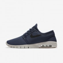 Mens Thunder Blue/Gum Medium Brown/Light Bone/Black Nike SB Stefan Janoski Max Skateboarding Shoes 631303-402