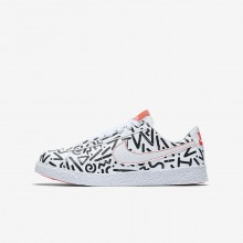 Boys White/Black/Bright Crimson Nike Blazer Lifestyle Shoes AO1033-100