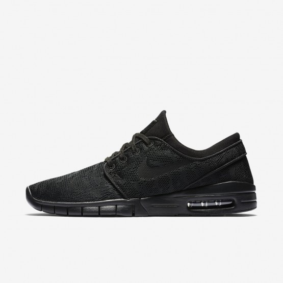 Mens Black/Anthracite Nike SB Stefan Janoski Max Skateboarding Shoes 631303-099