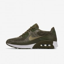 Womens Cargo Khaki/White/Neutral Olive Nike Air Max 90 Lifestyle Shoes 881109-300