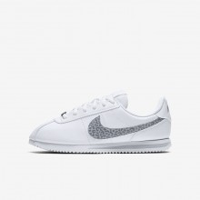 Nike Cortez Lifestyle Shoes For Girls White/Gunsmoke/Atmosphere Grey AH7528-100