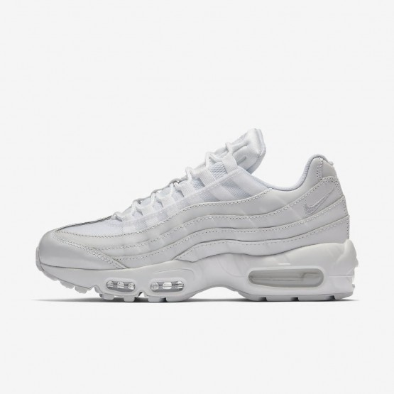 Womens White Nike Air Max 95 Lifestyle Shoes 307960-108