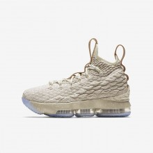 Boys String/Vachetta Tan/Sail Nike LeBron 15 Basketball Shoes 922811-200