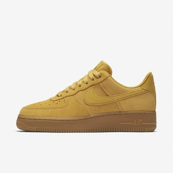 Nike Air Force 1 Lifestyle Shoes For Women Mineral Yellow/Gum Light Brown/Elemental Gold 896184-700
