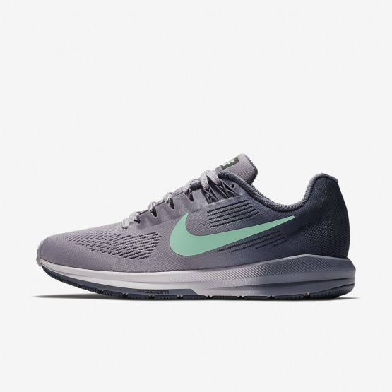 Womens Provence Purple/Thunder Blue/Light Carbon/Green Glow Nike Air Zoom Running Shoes 904701-503