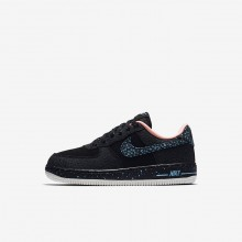 Boys Black/Crimson Pulse/Summit White/Lagoon Pulse Nike Air Force 1 Lifestyle Shoes AJ4675-002