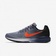 Mens Dark Sky Blue/Black/Navy/Total Crimson Nike Air Zoom Running Shoes 904695-406