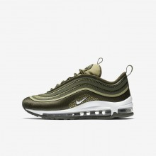 Boys Cargo Khaki/River Rock/Neutral Olive/White Nike Air Max 97 Lifestyle Shoes 917998-300