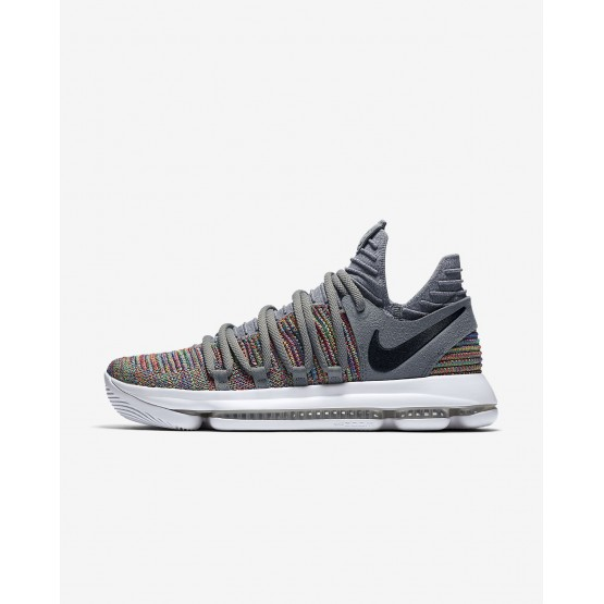 Womens Multi-Color/Cool Grey/White/Black Nike Zoom KDX Basketball Shoes 897815-900